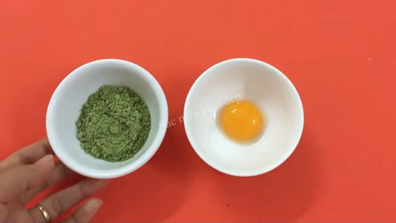 Mặt nạ trứng gà và bột trà xanh giúp bạn có làn da không tuổi