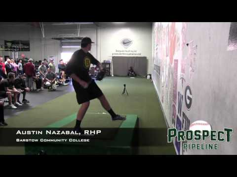Austin Nazabal Prospect Video, RHP, Barstow Community College