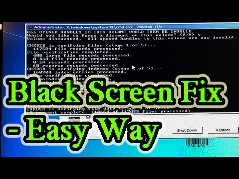 Windows 7 & 8 - Black Screen With Cursor at Start-up FIX