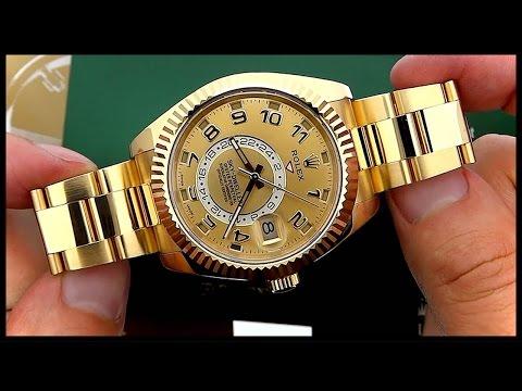 Rolex Sky-Dweller 18K Gold Luxury Watch (KeepTheTime Quickie)