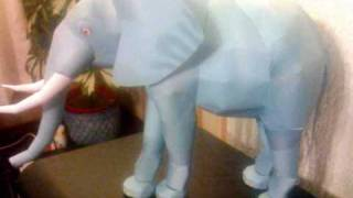 Papercraft Lion and Elephant model