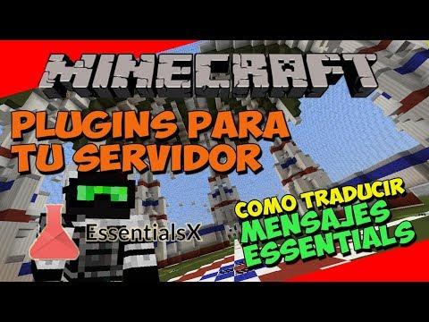 Minecraft: Plugins Para Tu Servidor - Como Traducir/Modificar Los Mensajes Del Essentials