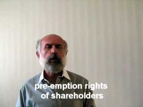 pre - emption rights of shareholders