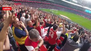 Gooners Takeover Wembley! | Arsenal Fans Celebrate Win Over Man City