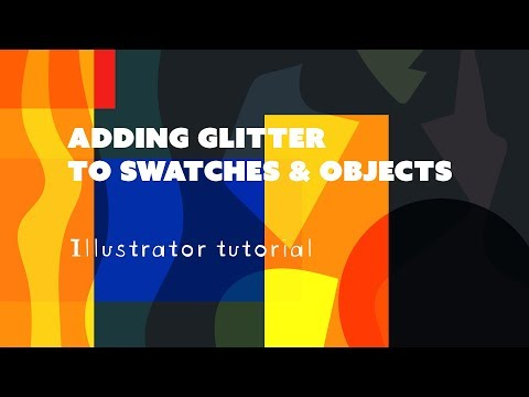 How to add Glitter to Swatches - Illustrator Tutorial thumbnail