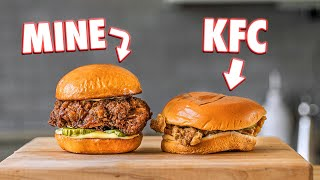 Making The KFC Chicken Sandwich At Home | But Better