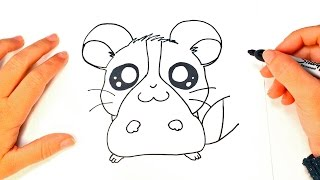 How to draw a Kawaii Hamster Step by Step