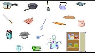 Bé học tiếng Anh qua đồ vật | Phòng bếp | Học Tiếng Anh cùng bé