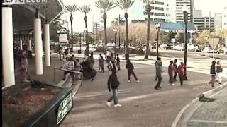 LiveLeak - Surveillance Video Shows Fatal Shootout at Jacksonville Landing
