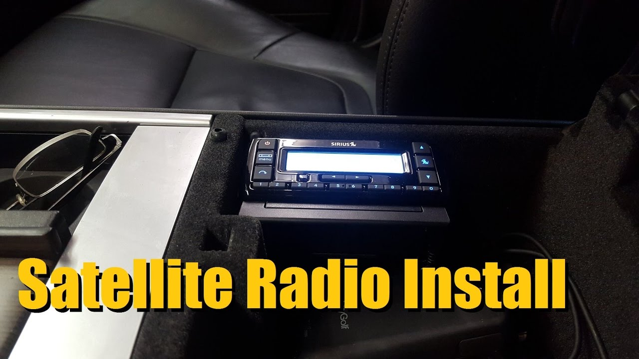 1. Install a Stand-Alone Satellite Radio
