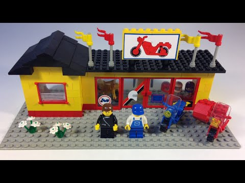 Lego Town 6373 Motorcycle Shop Set From 1984 Vintage City Youtube
