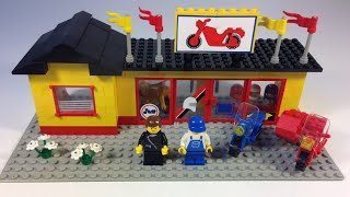 Lego Town 6373 Motorcycle Shop Set From 1984! Vintage City