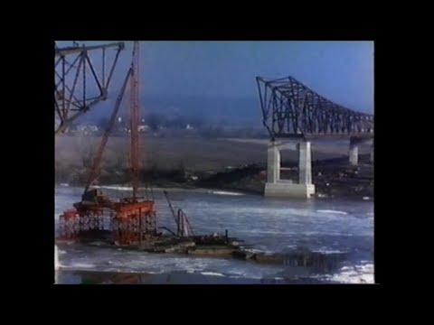1955 Jefferson City Mo River Bridge Construction