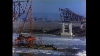 1955 Jefferson City Mo River Bridge Construction