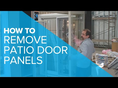 How To Remove a Patio Door Panel