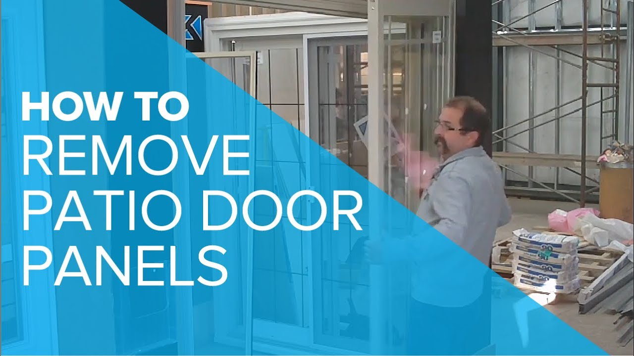 How To Remove A Patio Door Panel Youtube