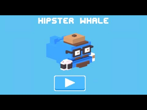 Crossy Road iOS App | Unlock the Secret Hidden #50 Hipster Whale!