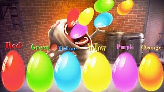 Learn colors with surprise eggs-Talking Tom and Friends Colors Reaction Animals Funny Videos #5