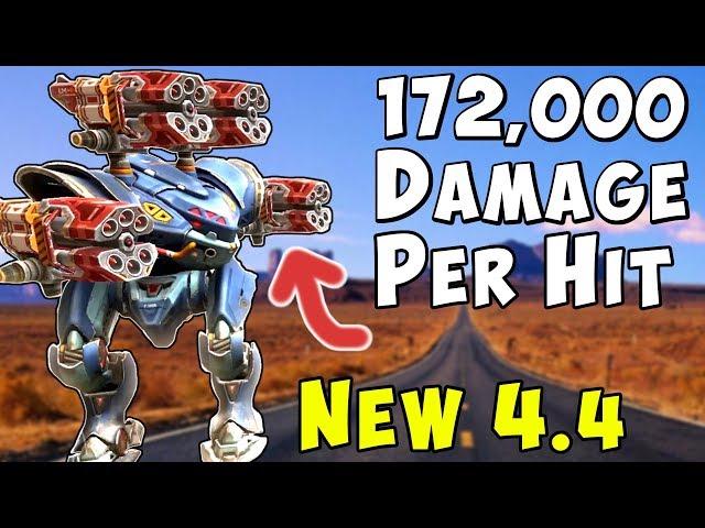 172,000 Dmg Per Hit? New War Robots 4.3 Mk2 Vortex Spectre Buff - WR
