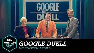 Google Duell mit Henryk M. Broder | NEO MAGAZIN ROYALE mit Jan Böhmermann - ZDFneo