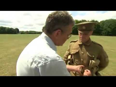 BBC News   World War One  Guided tour of British soldier