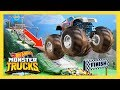 MONSTER TRUCK MAYHEM ON THE DOWNHILL DASH | Monster Trucks: Episode 1 | Hot Wheels