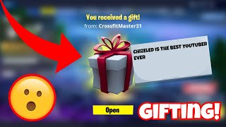 FORTNITE GIFTING COMPILATION