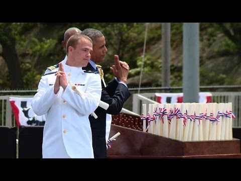 Sights and sounds from Coast Guard Academy commencement 2015