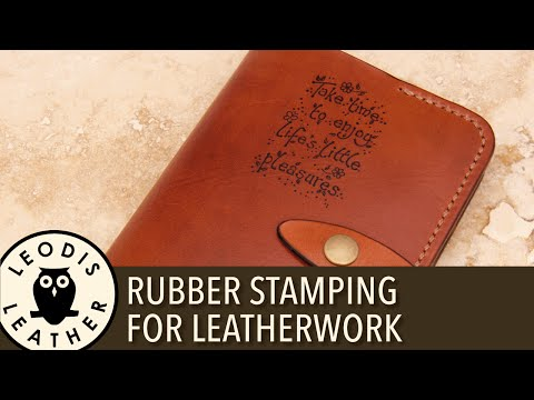 Quick Tip: Using Rubber Stamps With Leatherwork