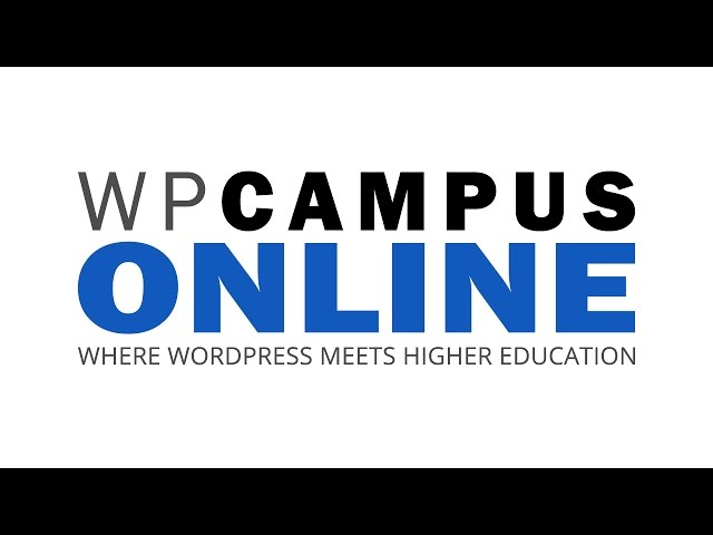 YouTube thumbnail for Higher Ed WordPress Showcase - WPCampus Online video