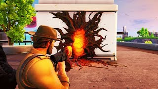 Get CATAPULTED IN THE SKY Using the NEW STRANGER THINGS Portal in Fortnite! (Fortnite Glitch)