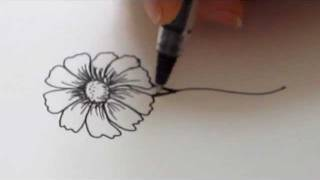 How To Draw a flower - Daisy Tutorial
