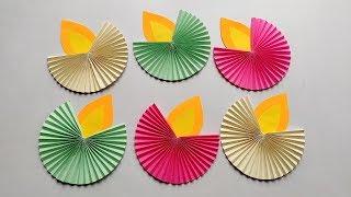 Easy Diwali decoration ideas l Diwali decoration diy/Paper Diya Craft l Diwali home decorations