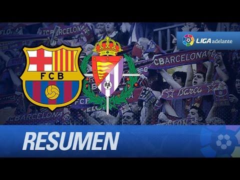 Resumen de FC Barcelona B (1-3) Real Valladolid