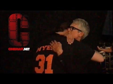 San Diego ComicCon 2018: Halloween Panel  Jamie Lee Curtis hugs