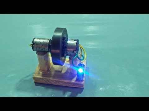 MAKE FREE ENERGY GENERATOR HOMEMADE 100% Real With 2 MOTORS