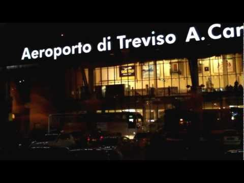 Treviso Airport Bus to Venice at Night