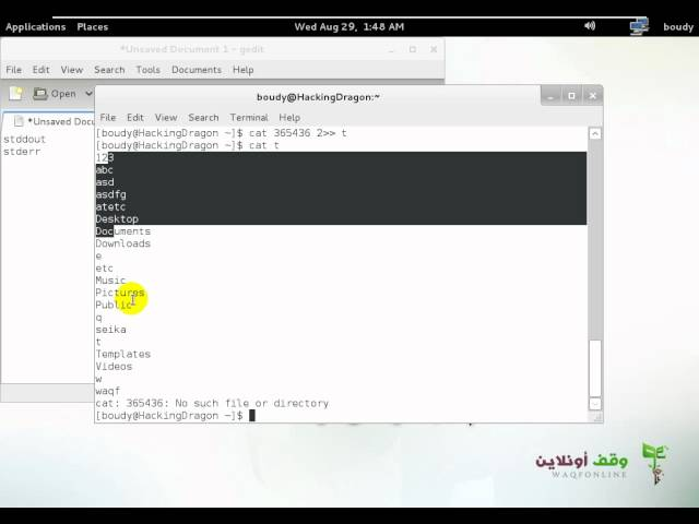 Linux Command Line  16  Redirecting and Piping