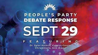 The People's Party Debate Response #1 - Dr. Peter Kalmus, Eynelys Garcia, Chris Smalls, Nick Brana