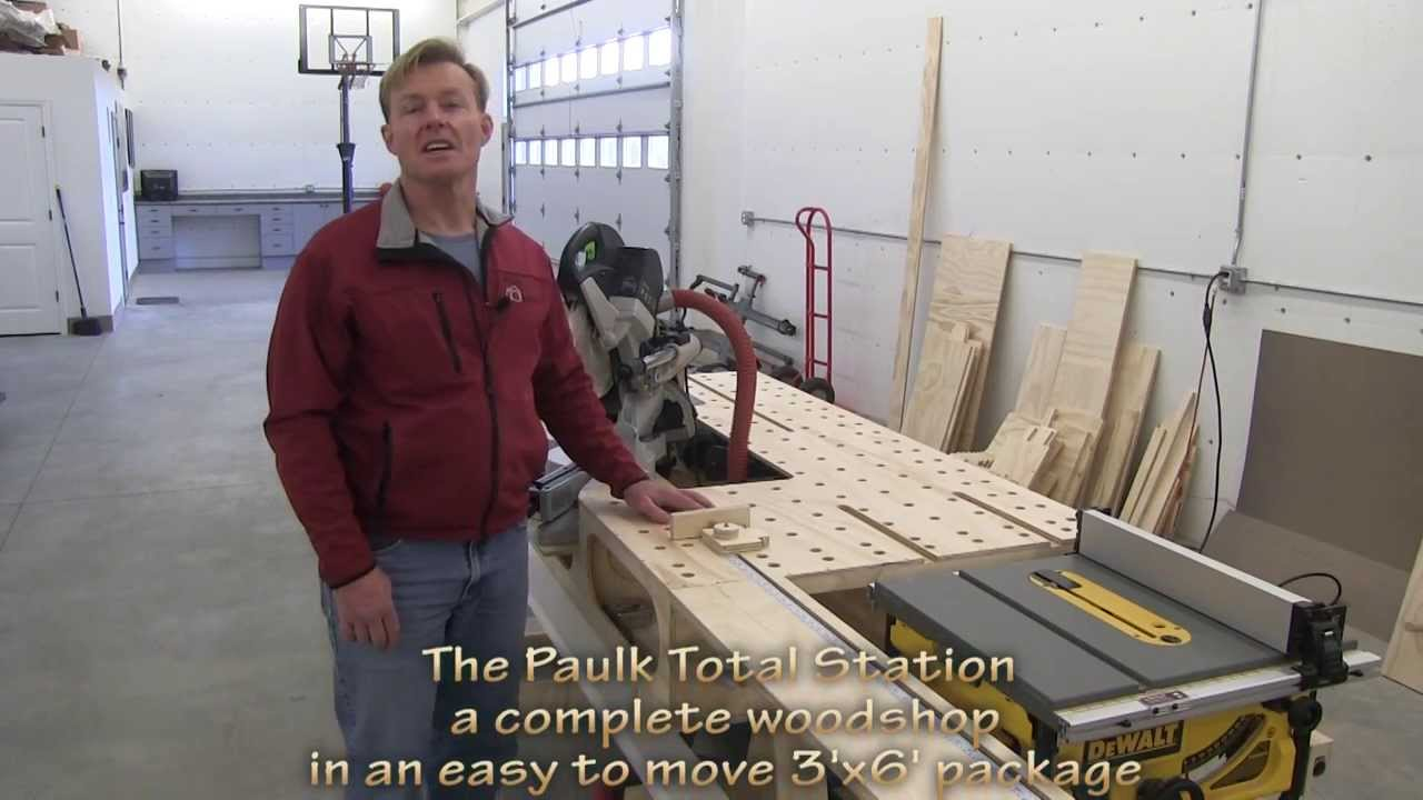 Paulk S Portable Woodshop 3 X6 X10 Quot Pts Youtube