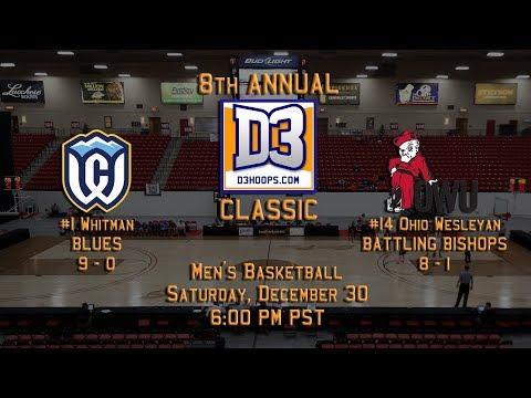 D3hoops.com Classic (MBB): #1 Whitman v #14 Ohio Wesleyan