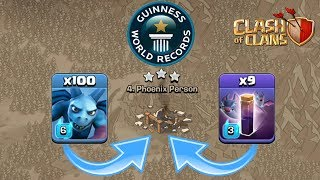 I DID IT ! 100 Minion and 10 Bat Spell TH10 War Attack | Clash of Clans - COC