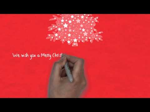 Holiday Greeting Speed Drawing Animation (Corporate)