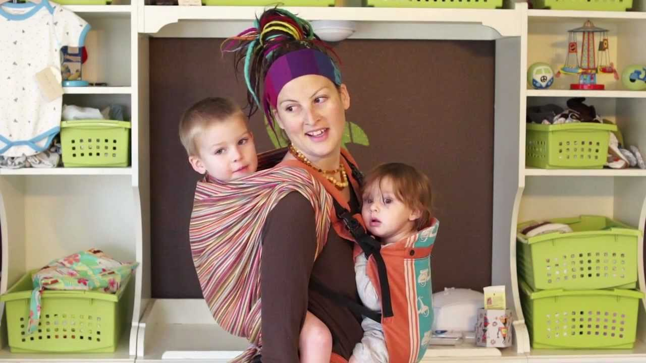 Tandem Babywearing With A Woven Wrap A Beco Butterfly Ssc Youtube