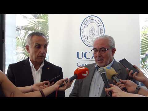 Visita presidente del COE al UCAM Campus Cartagena