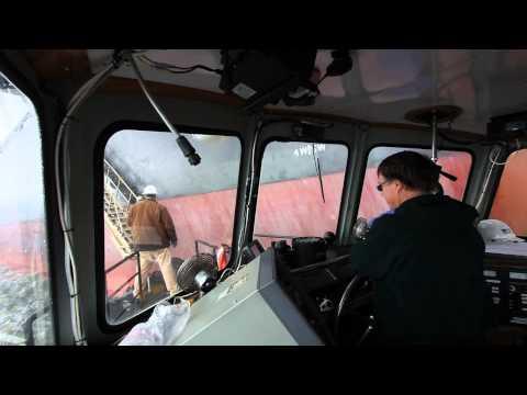 Crew boat personnel transfer.