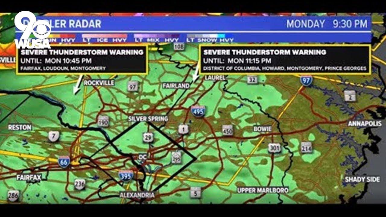 Thunderstorm Warnings, Flash Flood Watch in DC Area: Heavy Rain ...