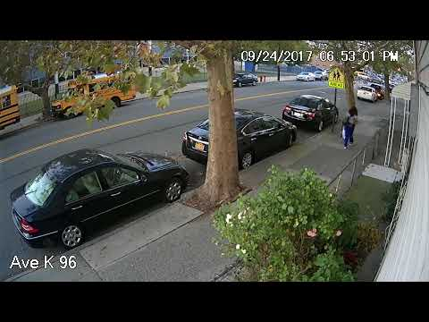 Fat Woman Drops Trash on Sidewalk in Canarsie Brooklyn