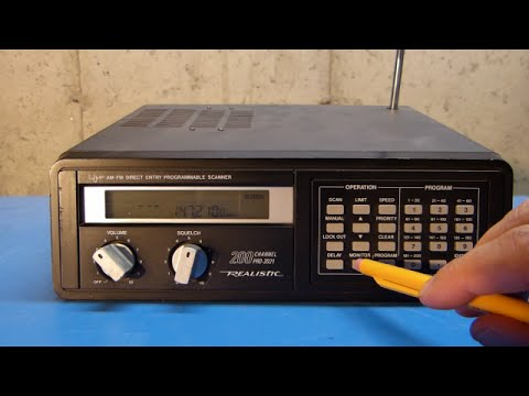 Radio Shack (Realistic) Pro-2021 Scanner Programming and Overview