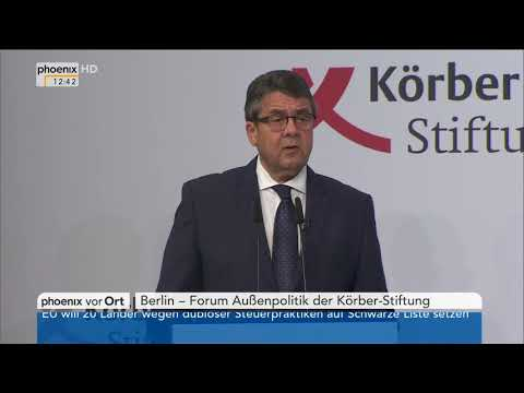 Rede von Sigmar Gabriel beim Forum Außenpolitik der Körber-Stiftung am 05.12.17